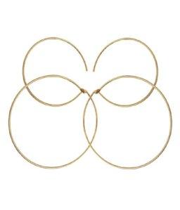 Overlapping Hoops By Boe earrings