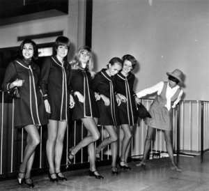 Mary Quant & her models