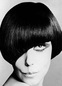 Mary Quant & her famous bob cut by Vidal Sassoon