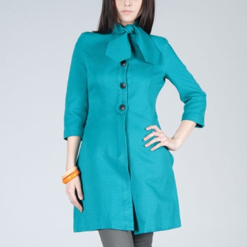 Tulle Quilted Trench Coat