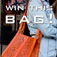 Minx GIVEAWAY: Hand Tooled Leather Purse