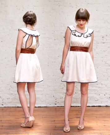 ark & co off-white dress
