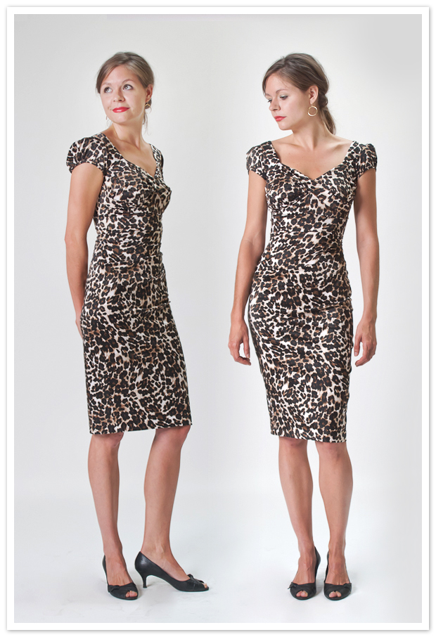leopard print stop staring dress