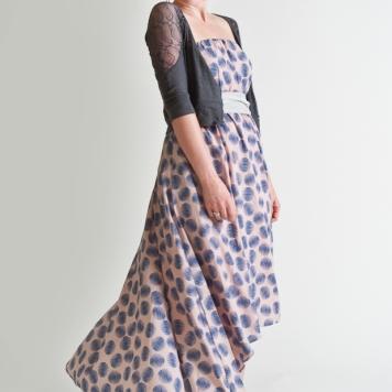 twirly strapless dress