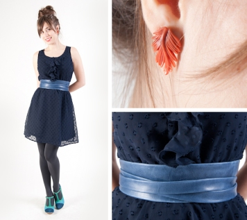 blue ada belt / studs by seven swans