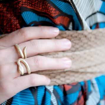 snake ring and python ADA belt