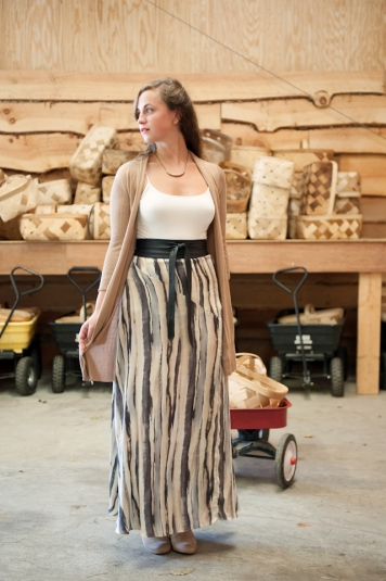 watercolor maxi skirt by costa blanca