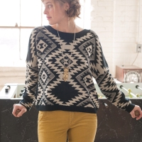 Aztec Action Pullover