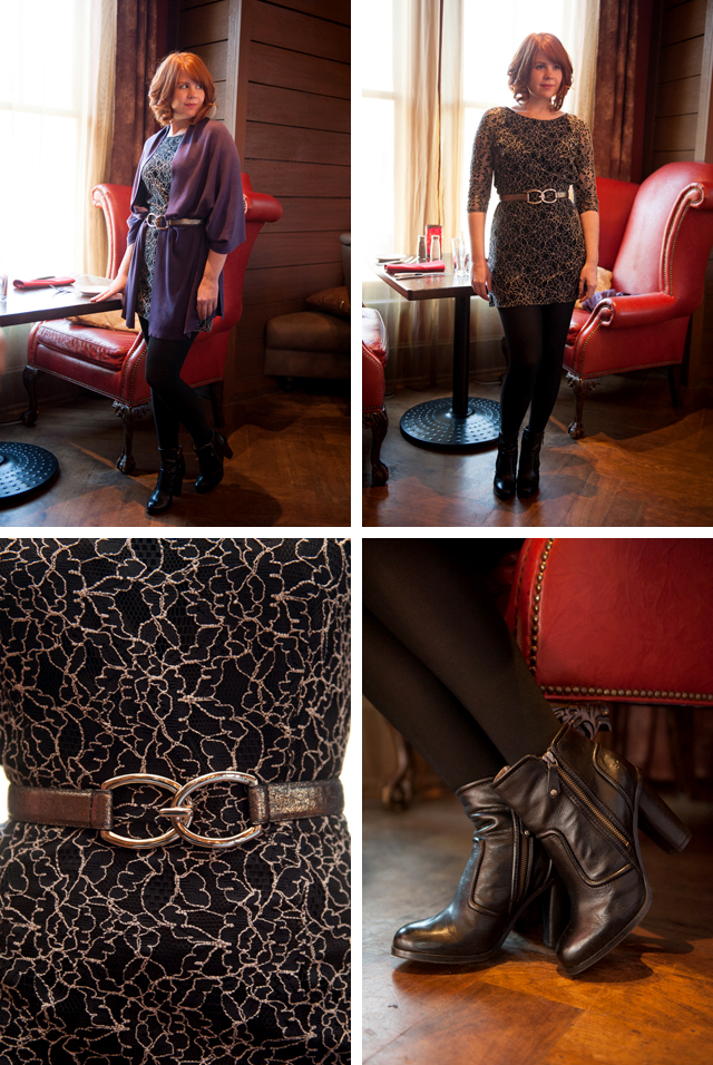 Hampton Knit Wrap in Aubergine