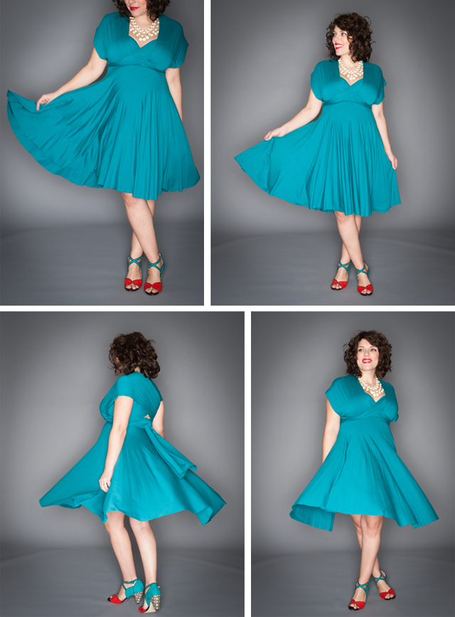 Signature Wrap Dress in Teal