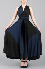 color blocked skirt on butter dress