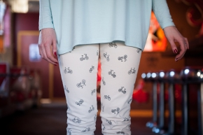 Paige Denim bike print cropped jeans.