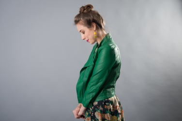 Ark & Co. Green Vegan Leather Jacket