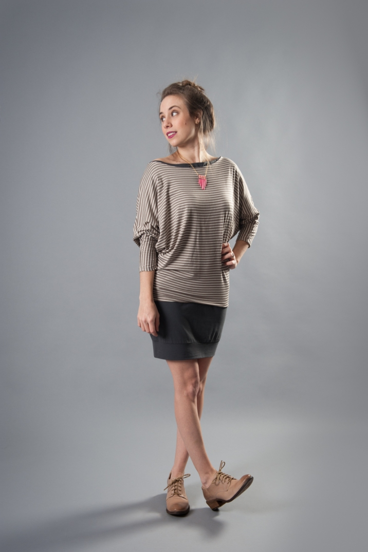 Maggie Boatneck Dress by Piko