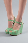 Matiko Mint Wedge Sandals