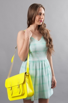 Neon Yellow Stella Satchel
