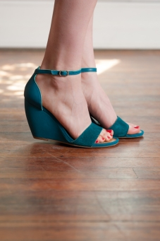 Thyme Suede Wedges by Seychelles