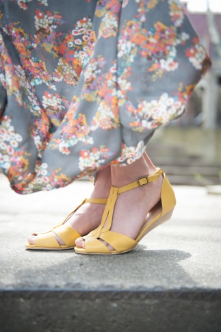 Florence Sandals in Yellow