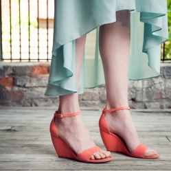 Thyme Suede Wedges by Seychelles in Melon - Available Online