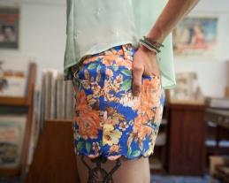 Scalloped Hem Floral Shorts by Very J