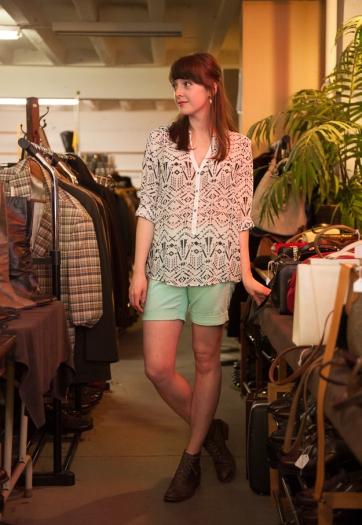 Glyph Print Tunic + Ceilo Shorts