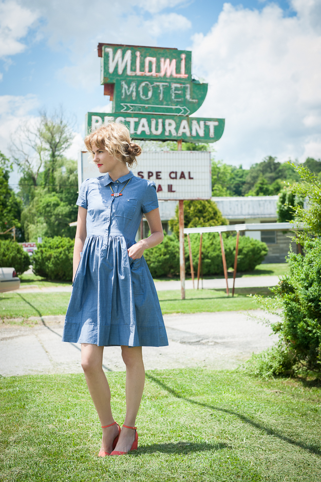 French Connection Chambray Dress