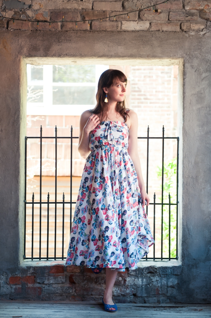 Midi Floral Dress by Lavand