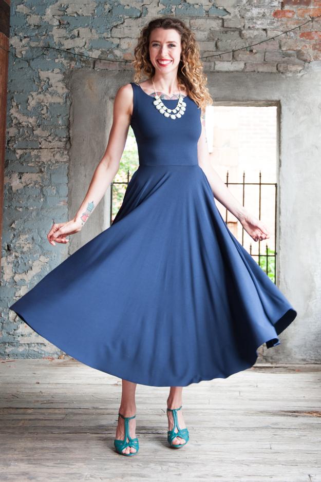 Nadia Tarr Boat Neck 3/4 Dress