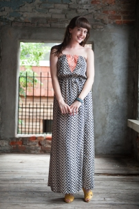 THML Embroidered Maxi Dress