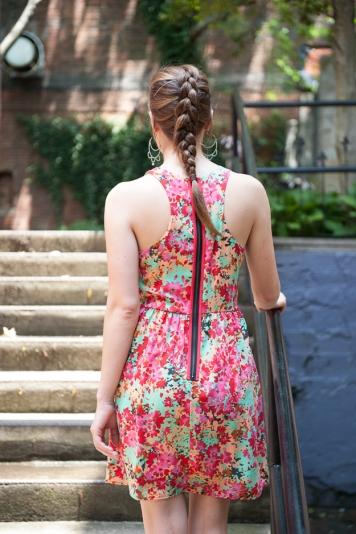 Liliana Petal Print Dress