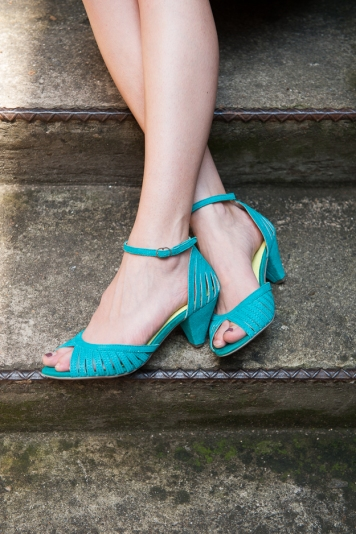 Turning Point Heels in Aqua