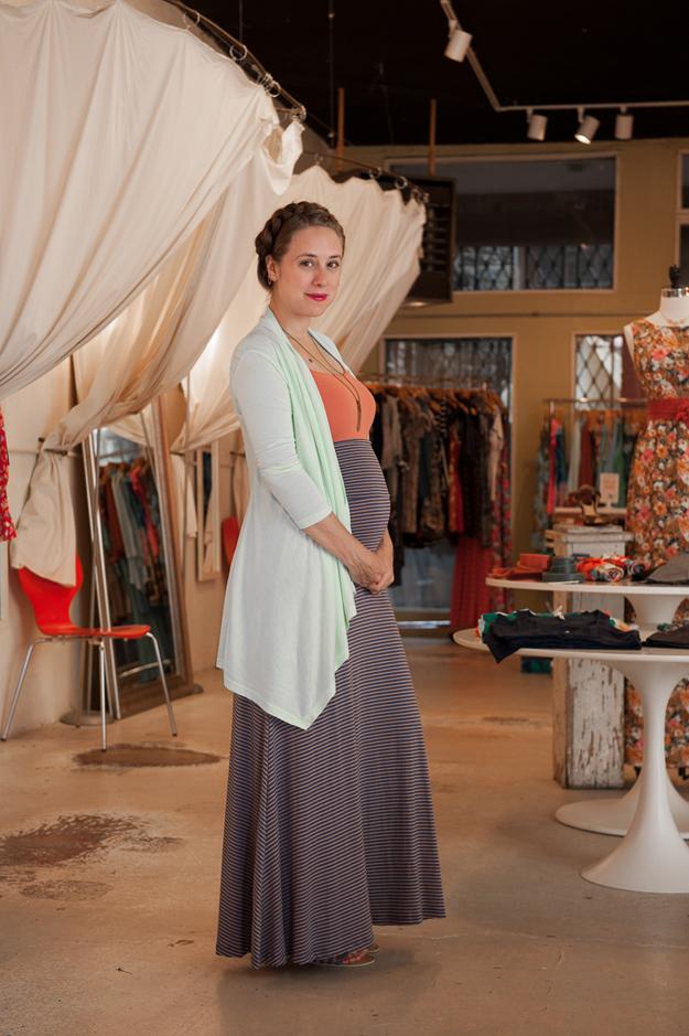 Maternity Friendly Foldover Maxi Skirt