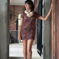 A pretty, paisley, shift dress.