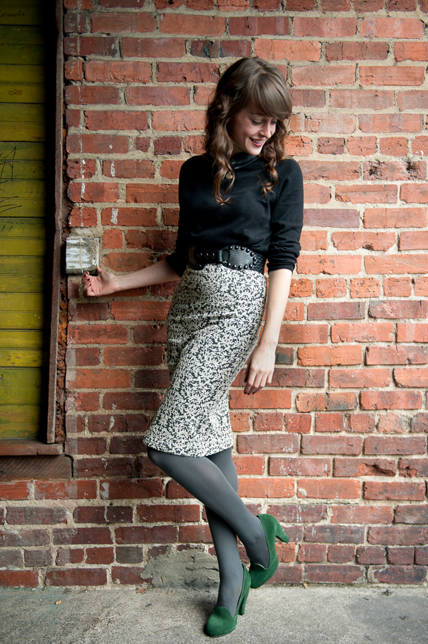 RD Style Floral Pencil Skirt
