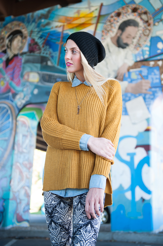 Echo Mustard Pullover Sweater