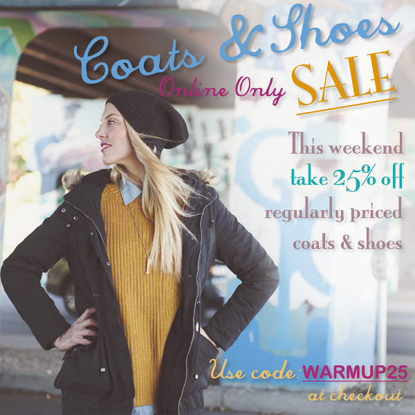 Online Coats and Shoe Sale