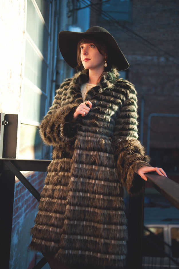 Fabulous Furs Faux Fur Coat
