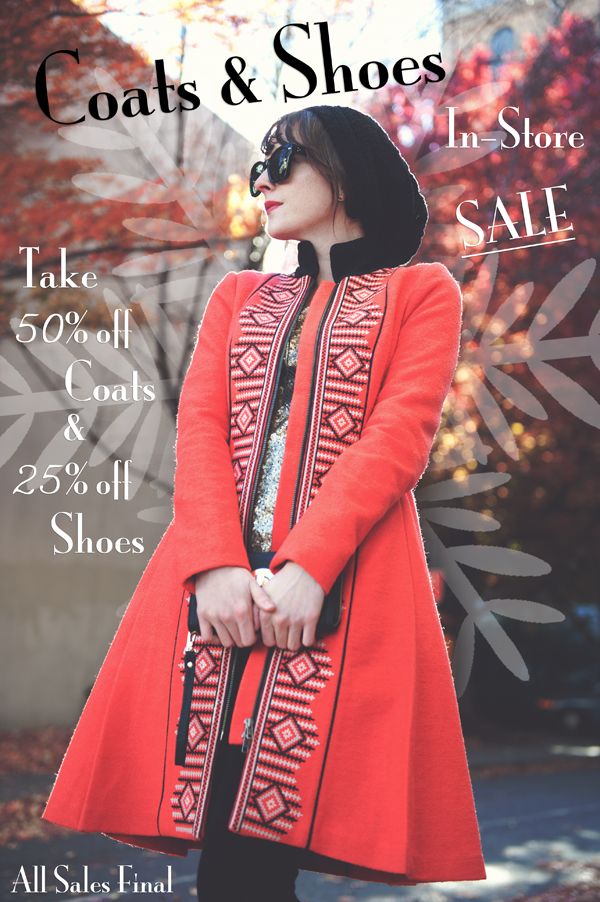 Coats and Shoes Sale