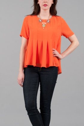 Everly Pleated Top