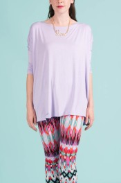 Piko 3/4 Sleeve Top in Lavender