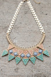 Crown Collar Statement Necklace