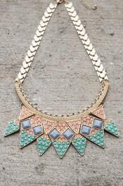 Crown Collar Statement Necklace