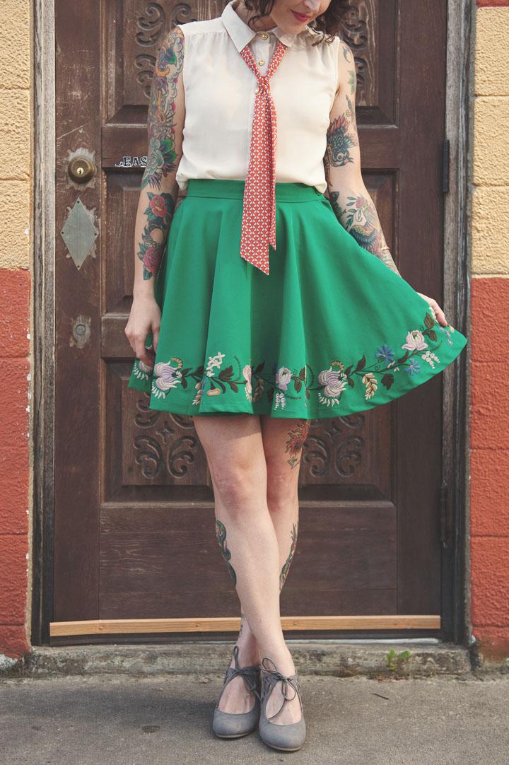 Wild Trillium Circle Skirt