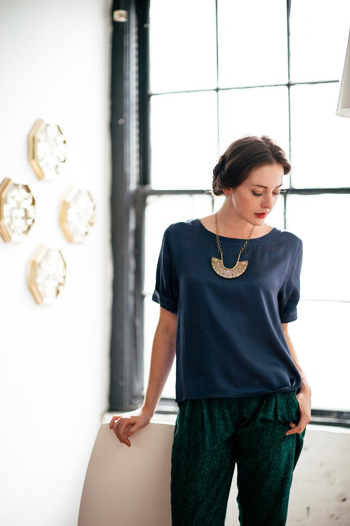Silk T-shirt Neuw