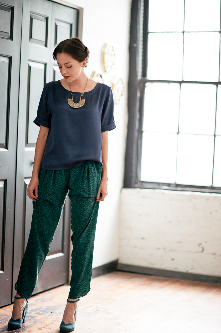 Silk Trousers Greylin