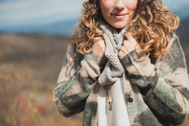 Numph Sweater / Infinity Scarf
