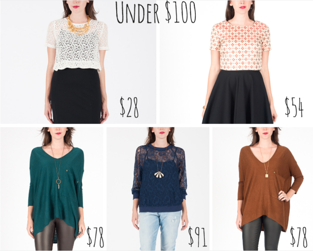 Favorite Holiday Tops under $100