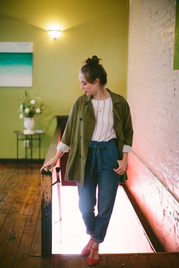 Light Denim, Paperbag Pants, The Hanger, Spring fashion