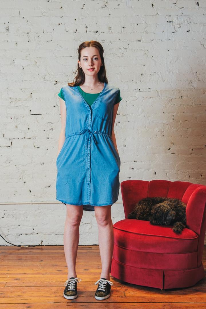 Cheap Monday Chambray Vest Dress