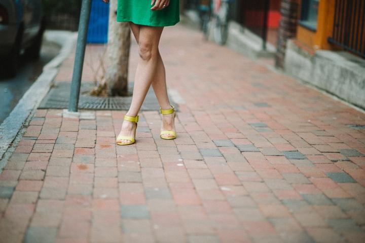 Chelsea Crew Elyse Sandals in Lime